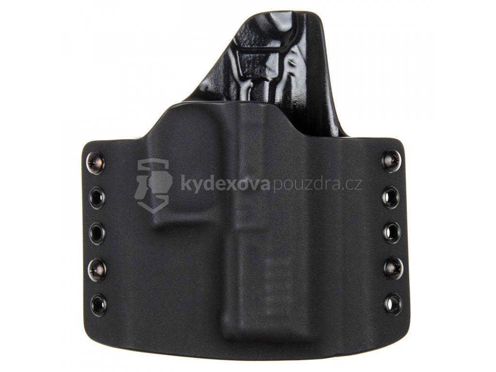 OWB - vnější kydexové pouzdro na Grand Power P11 - poloviční sweatguard - černá/černá