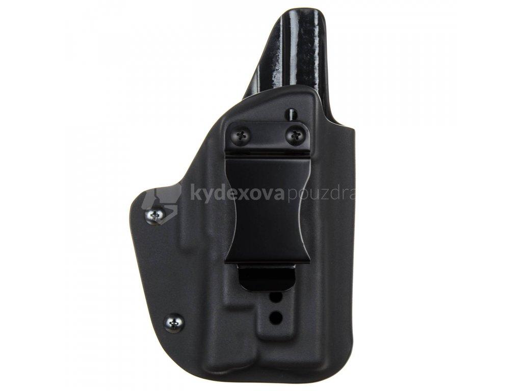 IWB - Glock 19/23/32 - Glock 19X/45 + Surefire XC1 - vnitřní kydexové pouzdro - plný sweatguard - ns - černá