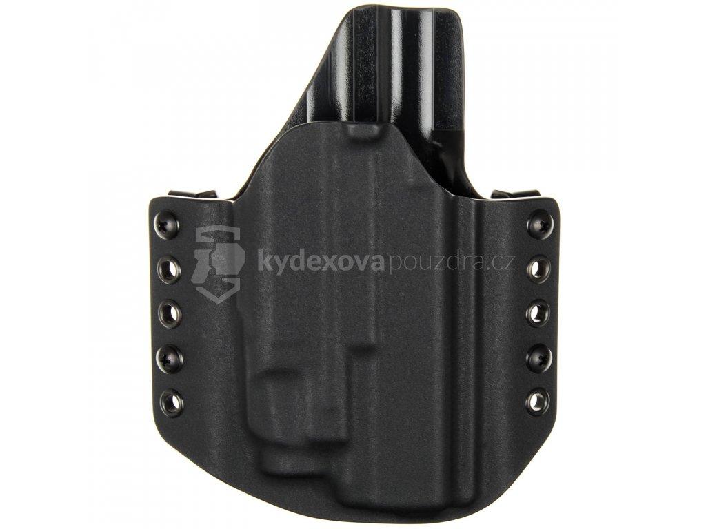 OWB - Glock 17/22/31 + Streamlight TLR-7 - vnější kydexové pouzdro - poloviční sweatguard - černá/černá