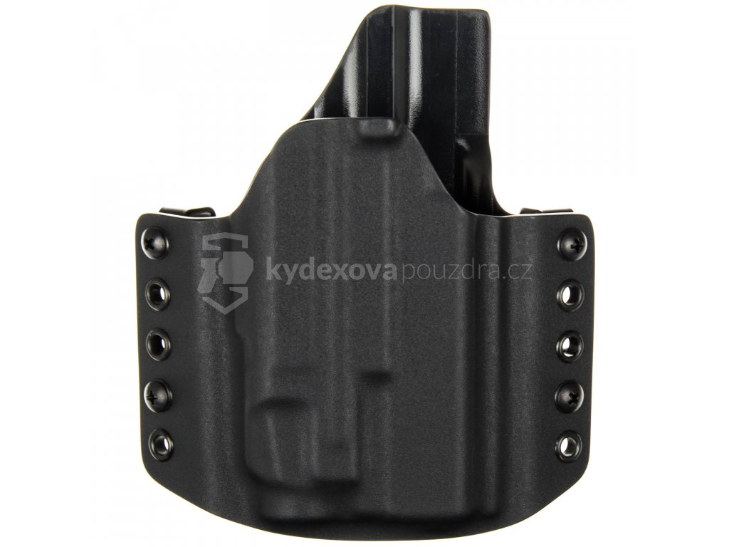 OWB - Glock 19/23/32 + Streamlight TLR-7 - vnější kydexové pouzdro - poloviční sweatguard - černá/černá