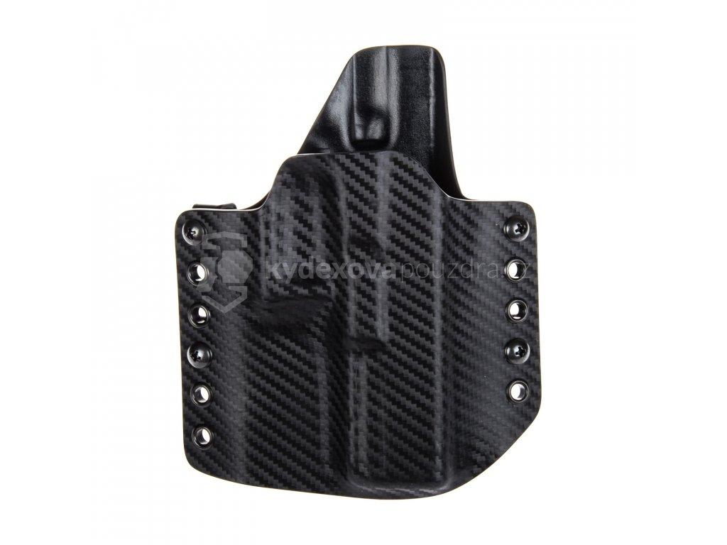 Kydexové pouzdro na zbraň Glock 17/22/31 - vnější, carbon/černá