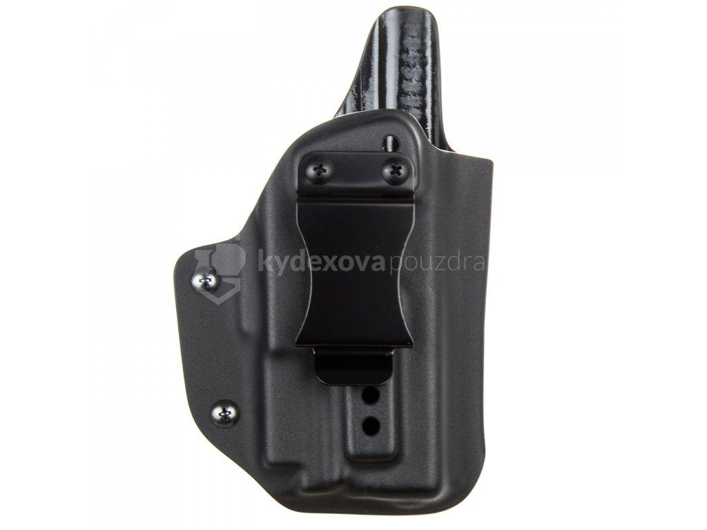 IWB - vnitřní kydexové pouzdro na Glock 19/23/32 + Olight PL-MINI Valkyrie - plný sweatguard - ns - černá