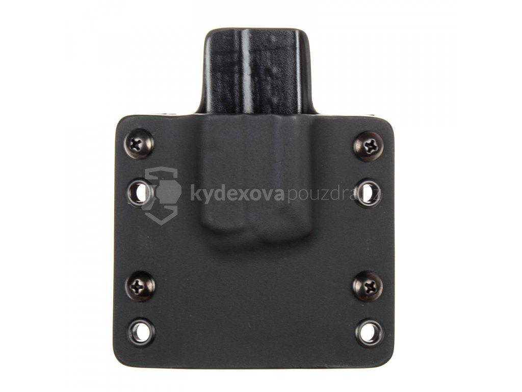 OWB - vnější kydexové pouzdro na 1 zásobník Walther PPS M2 - plný sweatguard - černá/černá