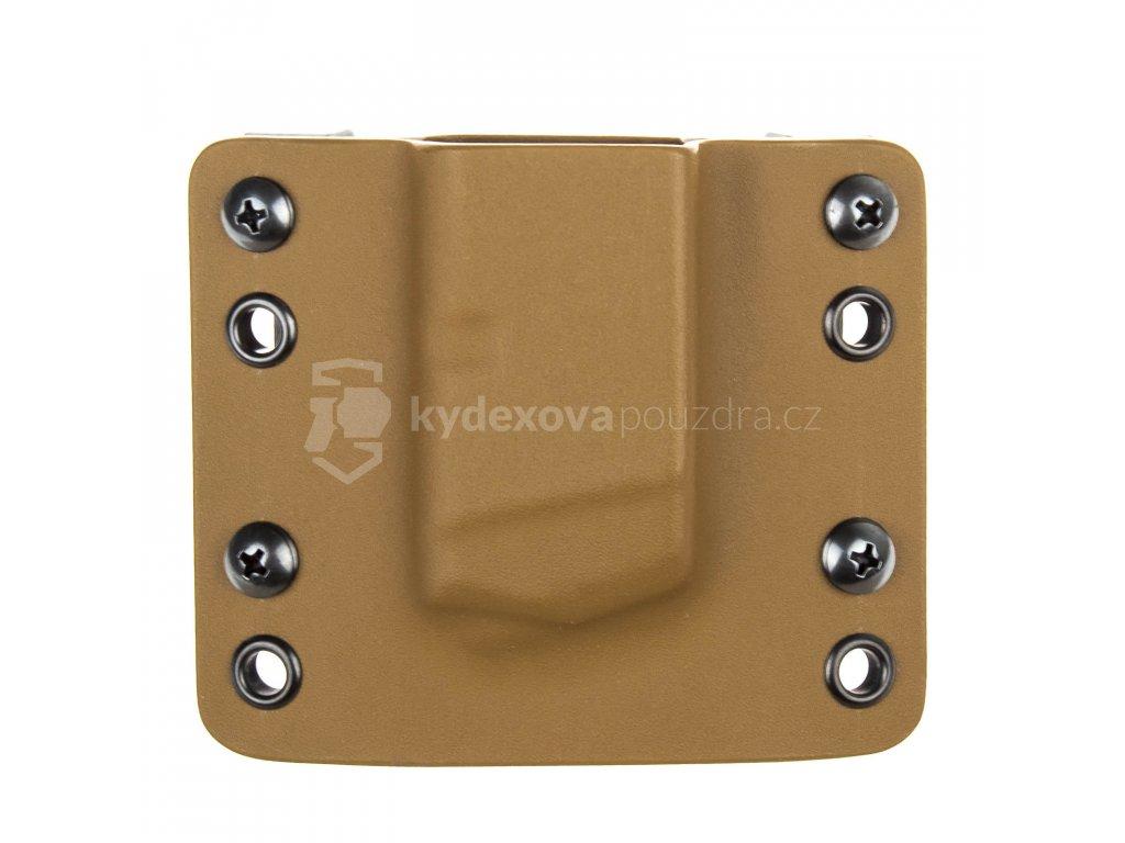 OWB - Glock 17/19/19X/45 - vnější kydexové pouzdro na 1 zásobník - bez sweatguardu - coyote hnědá/coyote hnědá