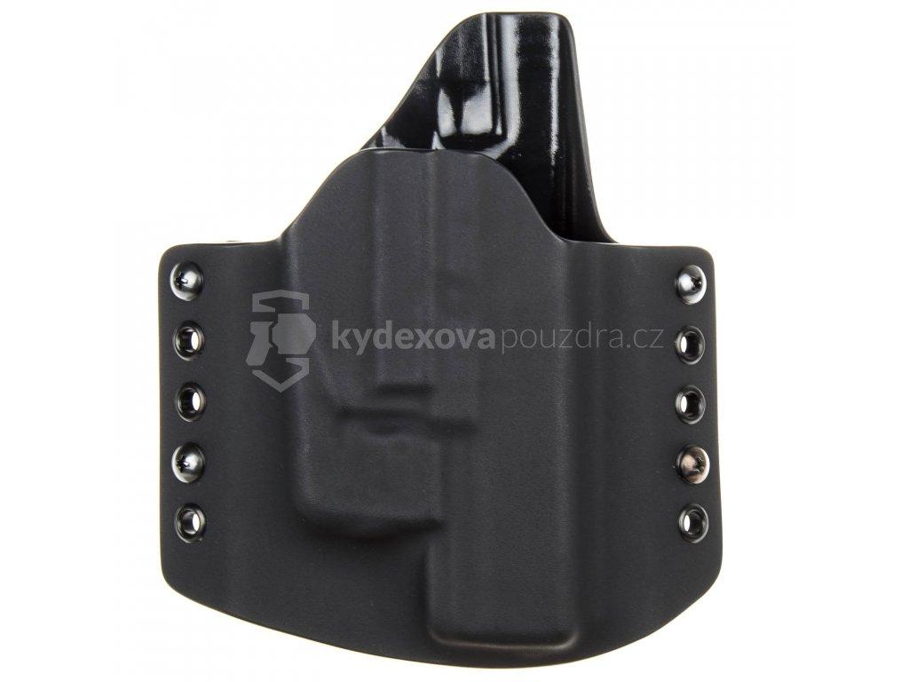 OWB - vnější kydexové pouzdro na Glock 17/22/31 + Streamlight TLR-6 - poloviční sweatguard - černá/černá