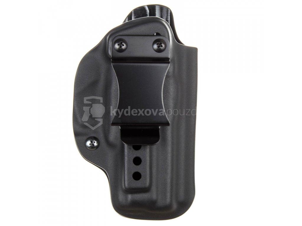 IWB - CZ 75 P-01 Ω - CZ 75 D Compact - CZ 75 Compact Shadow Line - vnitřní kydexové pouzdro - poloviční sweatguard - ns - černá