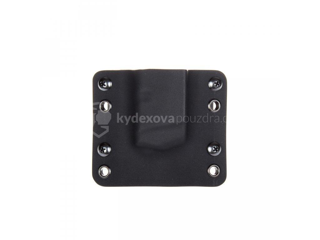 OWB - Glock 26/27 - vnější kydexové pouzdro na 1 zásobník - bez sweatguardu - černá/černá