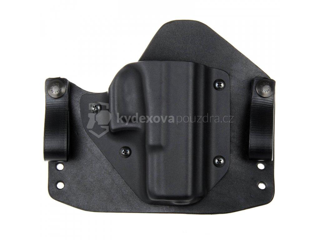 H/IWB - Glock 19/23/32 - Glock 19X/45 - hybridní vnitřní kydexové pouzdro - poloviční sweatguard - černá