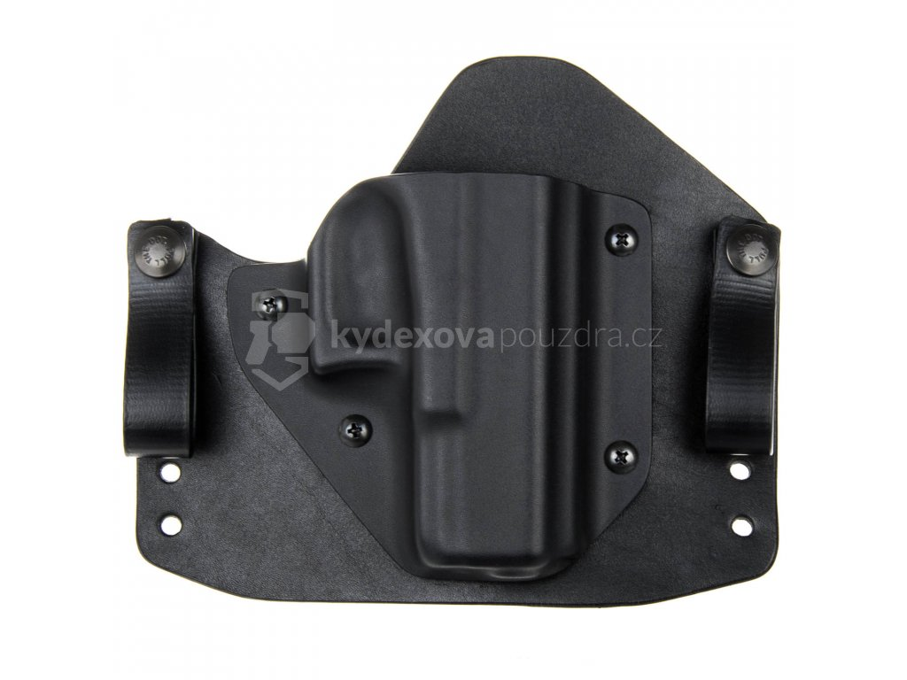 H/IWB - Glock 19/23/32 - hybridní vnitřní kydexové pouzdro - poloviční sweatguard - černá