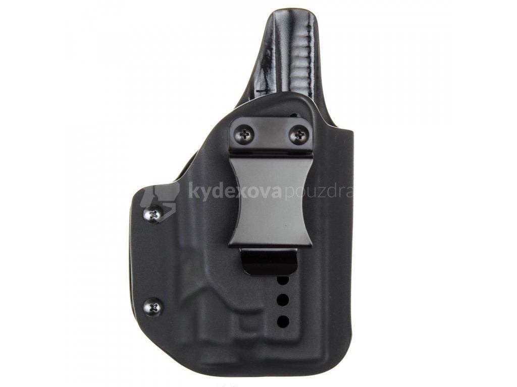 IWB - Glock 19/23/32 - Glock 19X/45 + Streamlight TLR-8 - vnitřní kydexové pouzdro plný - sweatguard - ns - černá