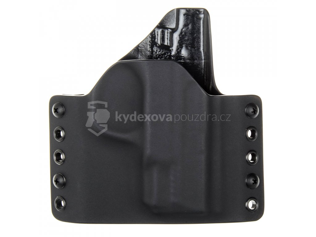OWB - vnější kydexové pouzdro na Smith & Wesson M&P45 SHIELD - poloviční sweatguard - černá/černá