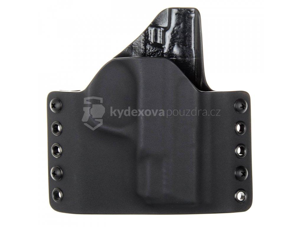 OWB - Smith & Wesson M&P45 SHIELD - vnější kydexové pouzdro - poloviční sweatguard - černá/černá