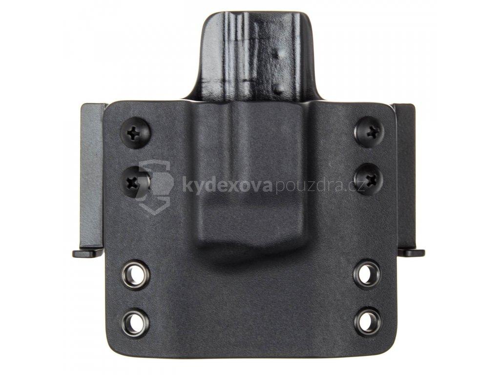 OWB - vnější kydexové pouzdro na 1 zásobník Smith & Wesson M&P9 SHIELD - plný sweatguard - černá/černá