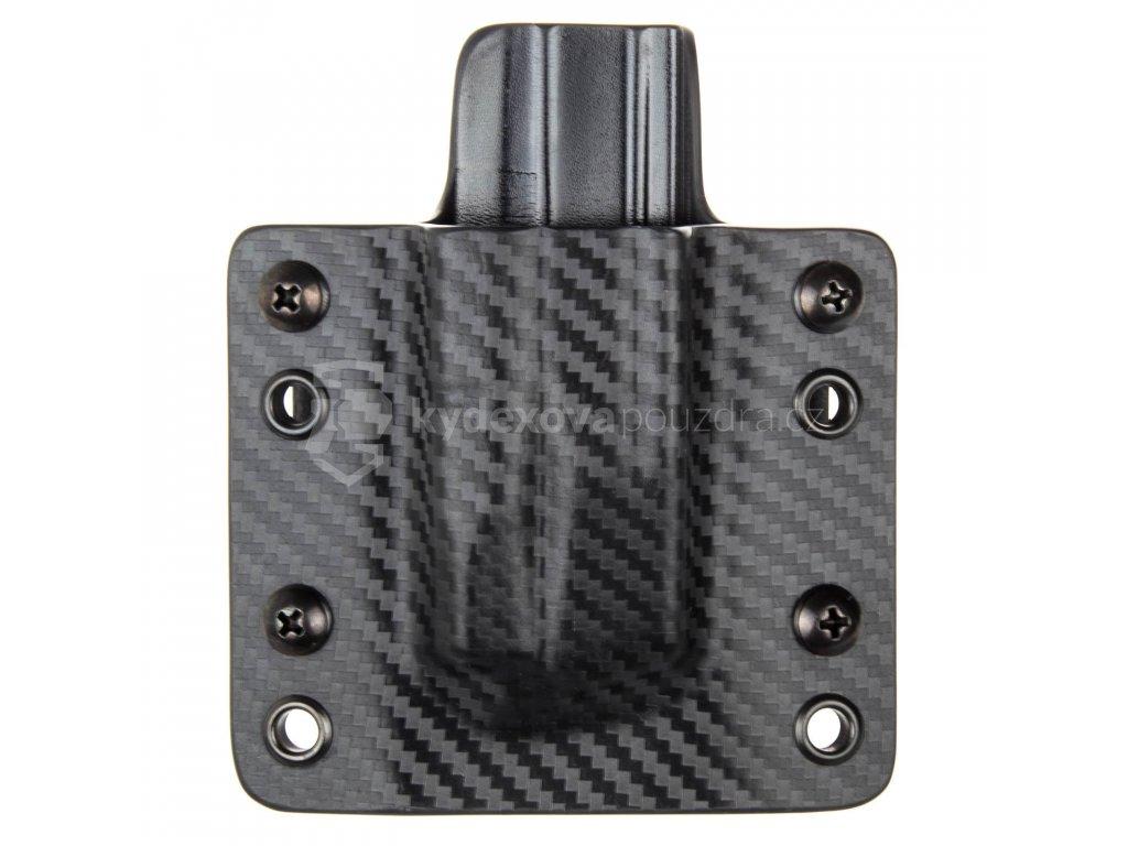 OWB - CZ P-10 C/F/S/SC - CZ P-07/09 - vnější kydexové pouzdro na 1 zásobník - plný sweatguard - carbon/černá