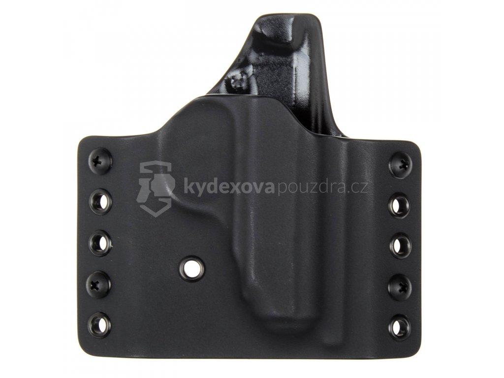 OWB - vnější kydexové pouzdro na Walther PPK - poloviční sweatguard - černá/černá