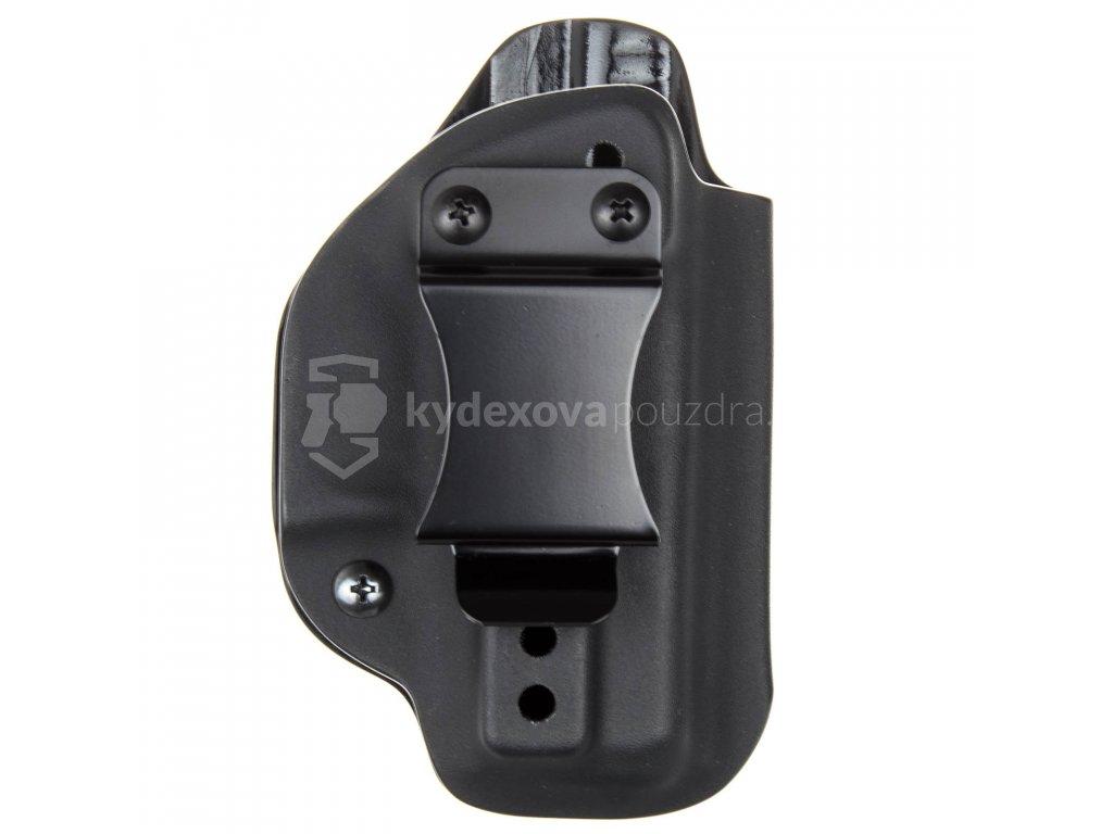 IWB - Glock 26/27 - vnitřní kydexové pouzdro - poloviční sweatguard - ns - černá