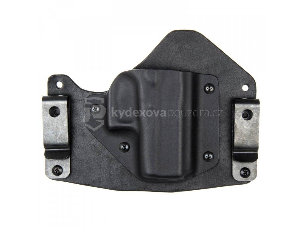 H/IWB - Glock 43 - hybridní vnitřní kydexové pouzdro - poloviční sweatguard - černá