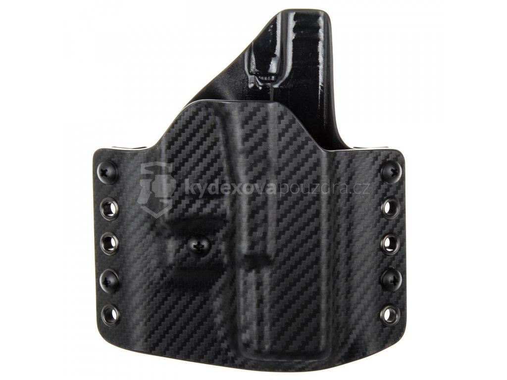 OWB - Glock 19/23/32 - Glock 19X/45 - vnější kydexové pouzdro - poloviční sweatguard - ns - carbon/černá