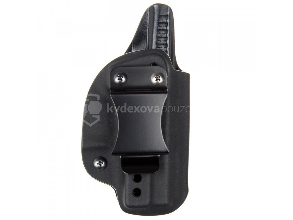 IWB - Glock 42 - vnitřní kydexové pouzdro - plný sweatguard - ns - černá