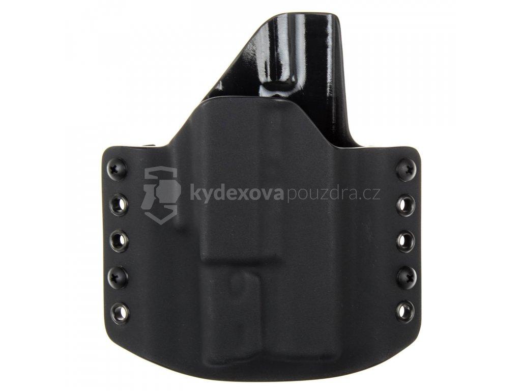 OWB - Glock 19/23/32 + Surefire XC1 - vnější kydexové pouzdro - poloviční sweatguard - černá/černá