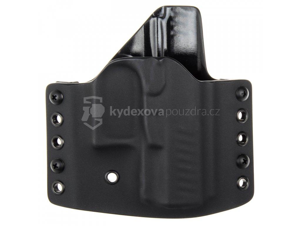 OWB - vnější kydexové pouzdro na Walther PPQ SC - poloviční sweatguard - černá/černá