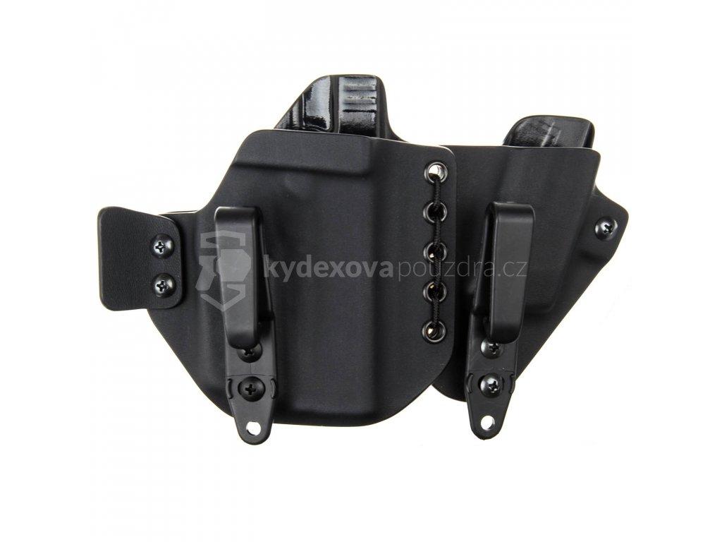 AIWB - Glock 43 + Streamlight TLR-6 + zásobník - appendix vnitřní kydexové pouzdro - poloviční/plný sweatguard - ns - černá