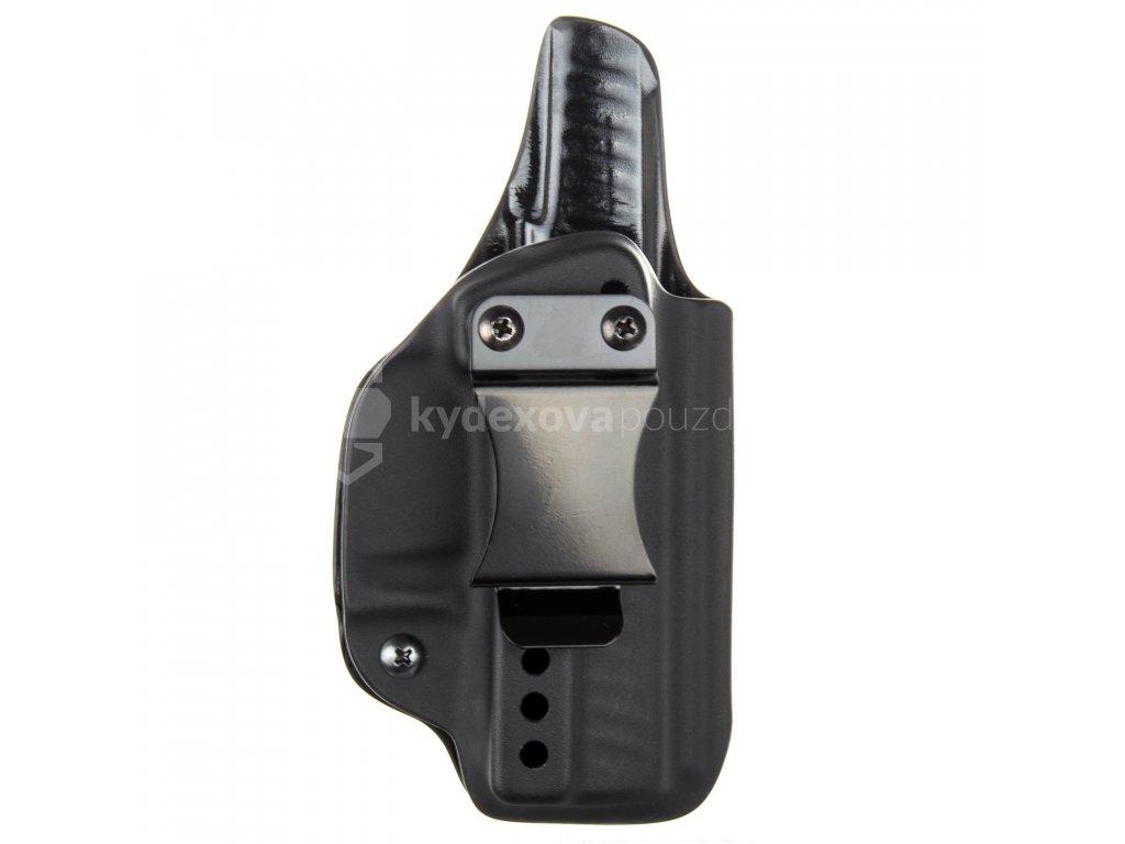IWB - vnitřní kydexové pouzdro na Walther PPQ SC - plný sweatguard - ns - černá
