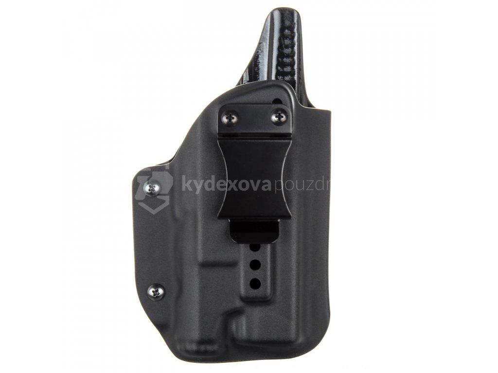 IWB - Glock 17/22/31 + Inforce APL Gen 3 - vnitřní kydexové pouzdro - plný sweatguard - ns - černá