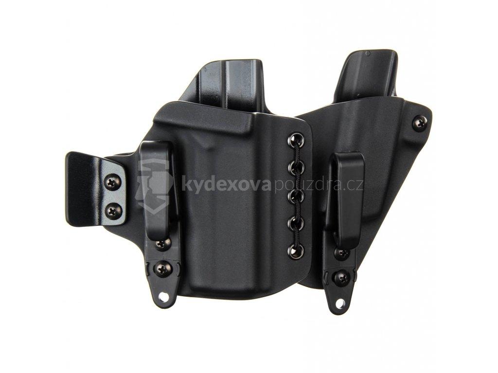 AIWB - Glock 43X + zásobník - appendix vnitřní kydexové pouzdro - poloviční/plný sweatguard - ns - černá