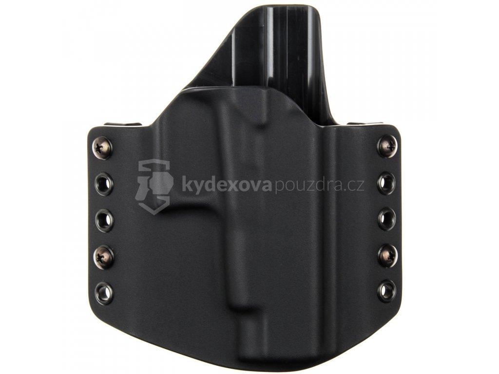 OWB - Glock 48 - vnější kydexové pouzdro - poloviční sweatguard - černá/černá
