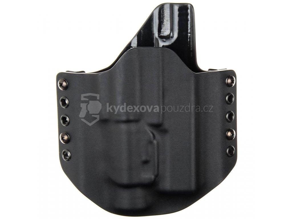 OWB - Glock 17/22/31 + Streamlight TLR-2 - vnější kydexové pouzdro - poloviční sweatguard - černá/černá