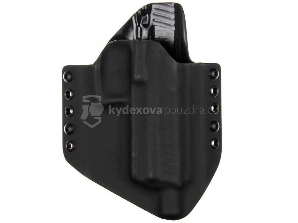 OWB - Heckler & Koch P30L SD - vnější kydexové pouzdro - poloviční sweatguard - černá/černá