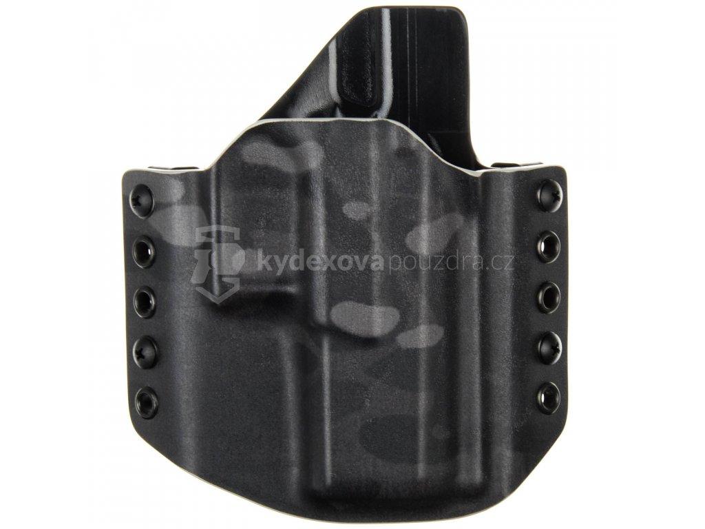 OWB - CZ P-10 C - vnější kydexové pouzdro - poloviční sweatguard - multicam black/černá