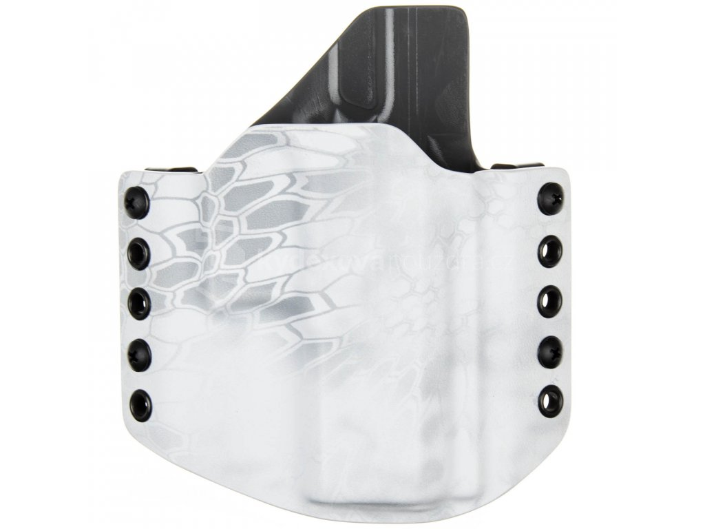 OWB - CZ P-10 C - vnější kydexové pouzdro - poloviční sweatguard - kryptek yeti/tmavě šedá