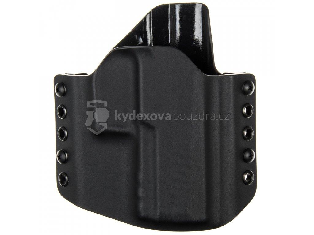 OWB - SIG Sauer P320 XCompact - vnější kydexové pouzdro - poloviční sweatguard - černá/černá