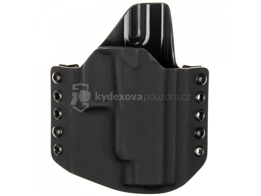 OWB - Glock 48 Rail - vnější kydexové pouzdro - poloviční sweatguard - černá/černá