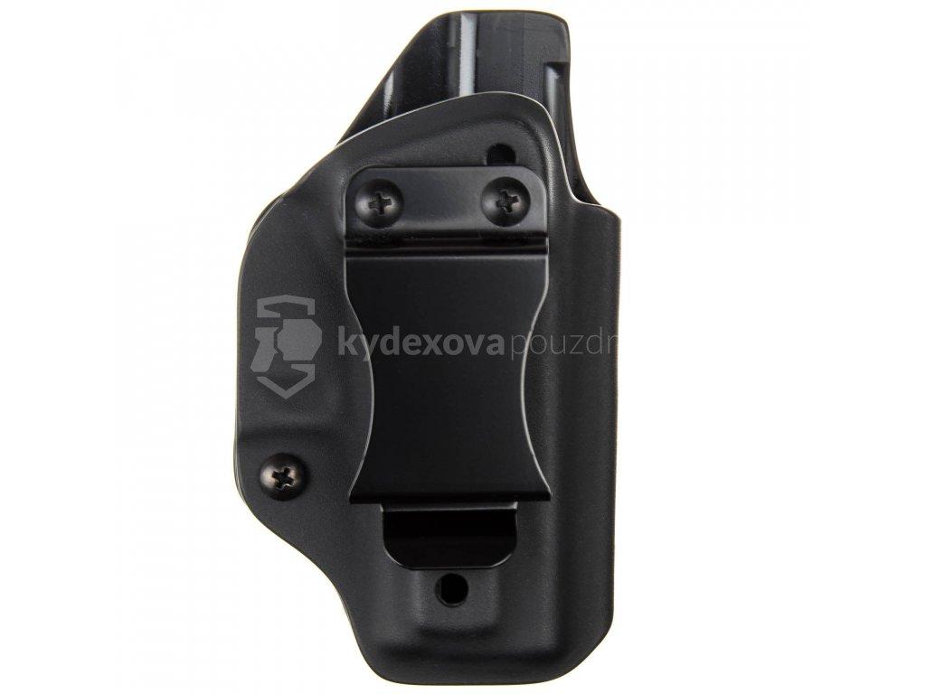 IWB - Glock 43X Rail - vnitřní kydexové pouzdro - poloviční sweatguard - ns - černá