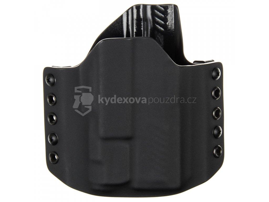 OWB - SIG Sauer P320 Compact + Inforce APLc - vnější kydexové pouzdro - poloviční sweatguard - černá/černá