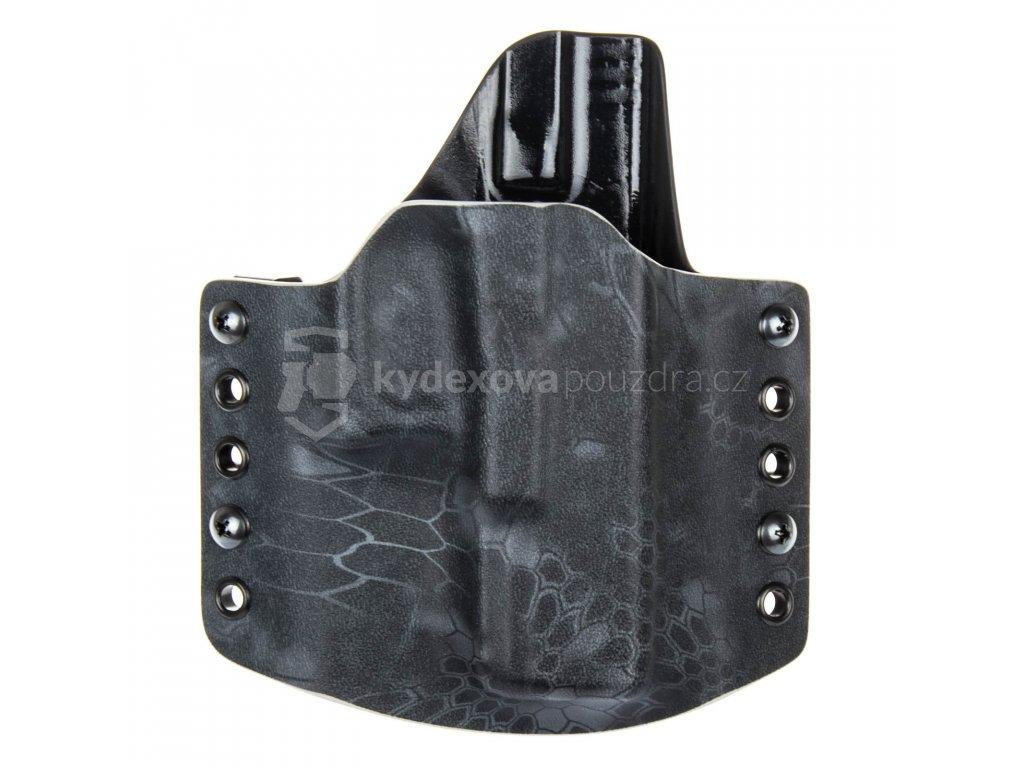 Kydexové pouzdro na zbraň Glock 19/23/32 - vnější, kryptek typhon/černá