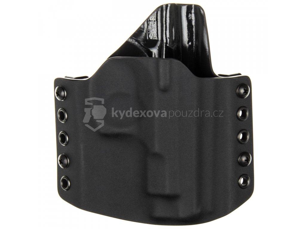 OWB - CZ 75 D Compact BEZ RAILU - vnější kydexové pouzdro - poloviční sweatguard - černá/černá