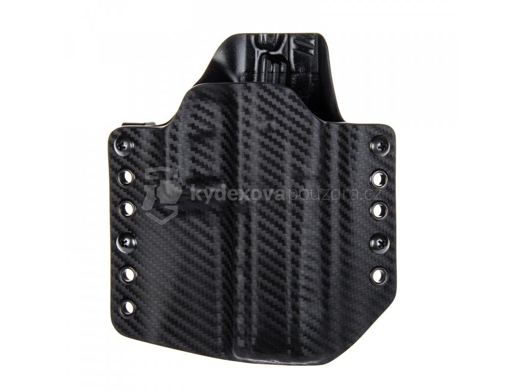 Kydexové pouzdro na zbraň CZ P-09 - vnější, carbon/černá