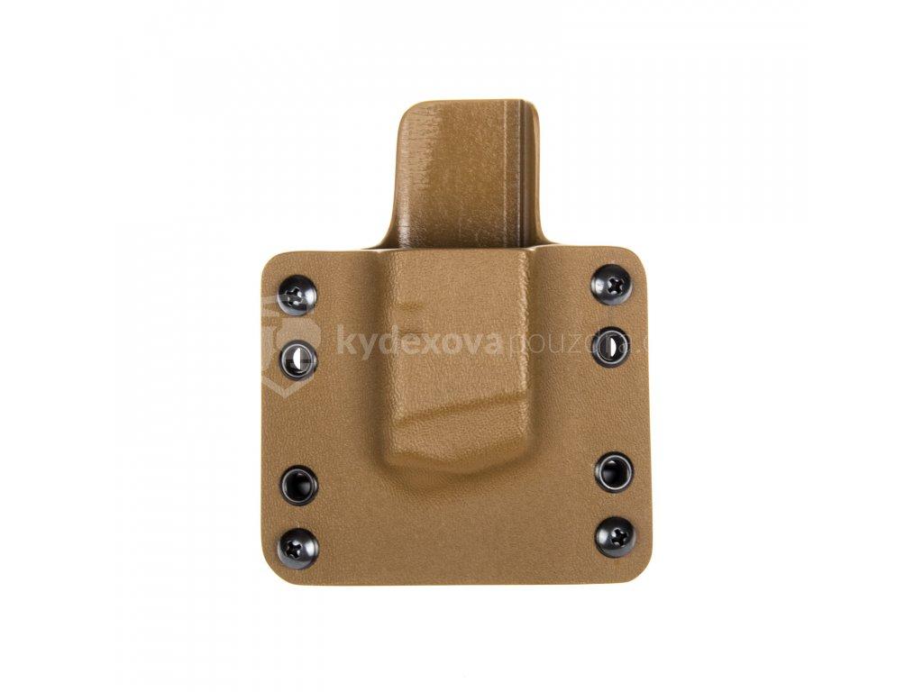 OWB - Glock 17/19/19X/45 - vnější kydexové pouzdro na 1 zásobník - plný sweatguard - coyote hnědá/coyote hnědá