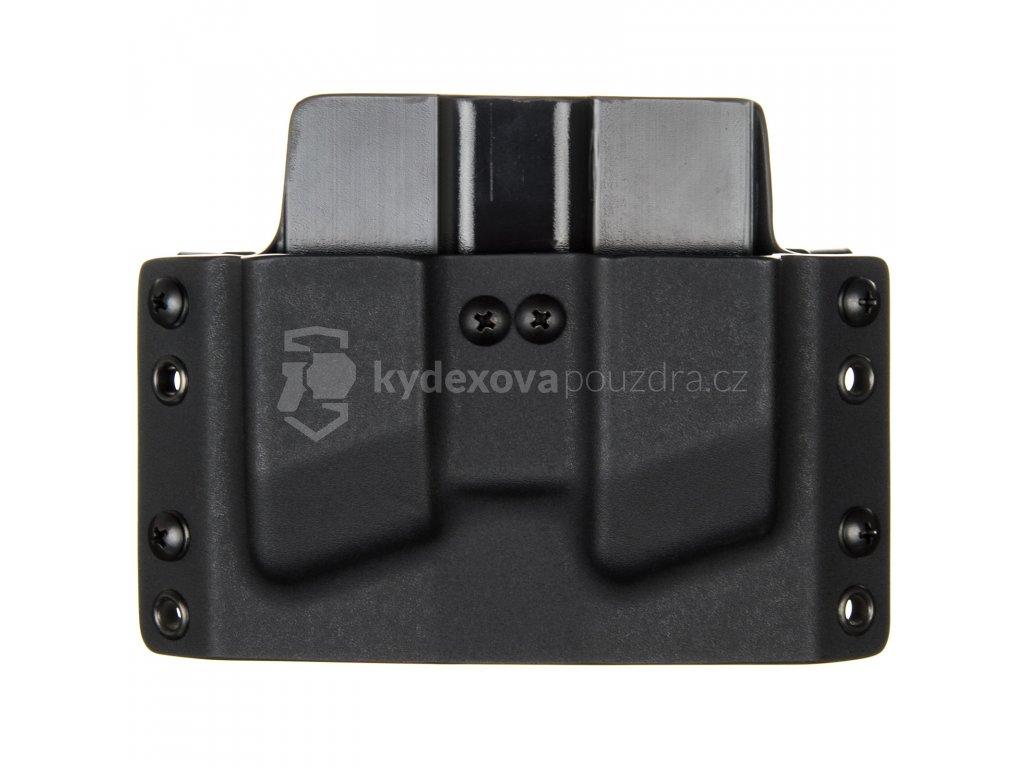 OWB - Glock 43 - vnější kydexové pouzdro na 2 zásobníky - plný sweatguard - černá/černá