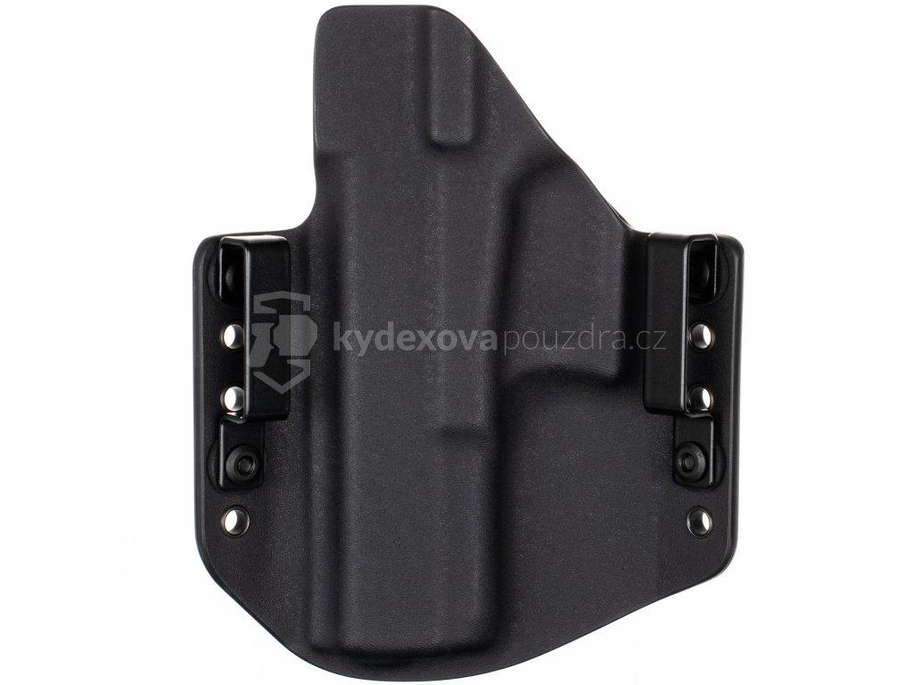 OWB - Glock 17/22/31 - vnější kydexové pouzdro - poloviční sweatguard - černá/černá