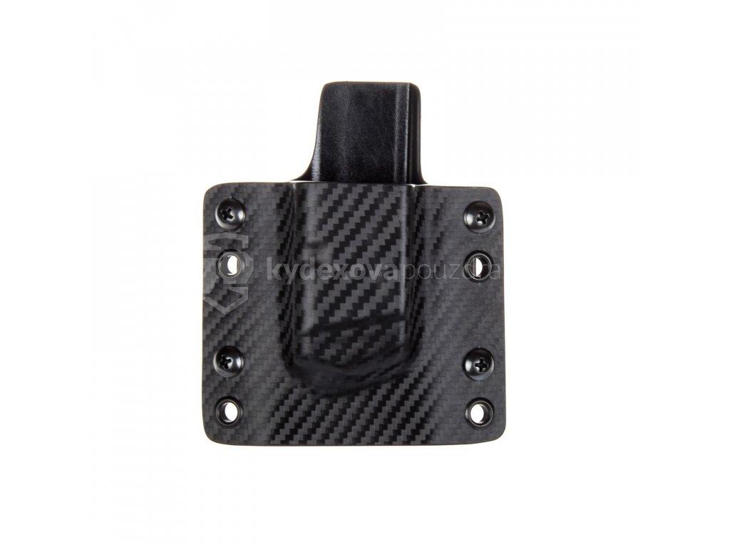 OWB - Glock 17/19/19X/45 - vnější kydexové pouzdro na 1 zásobník - plný sweatguard - carbon/černá