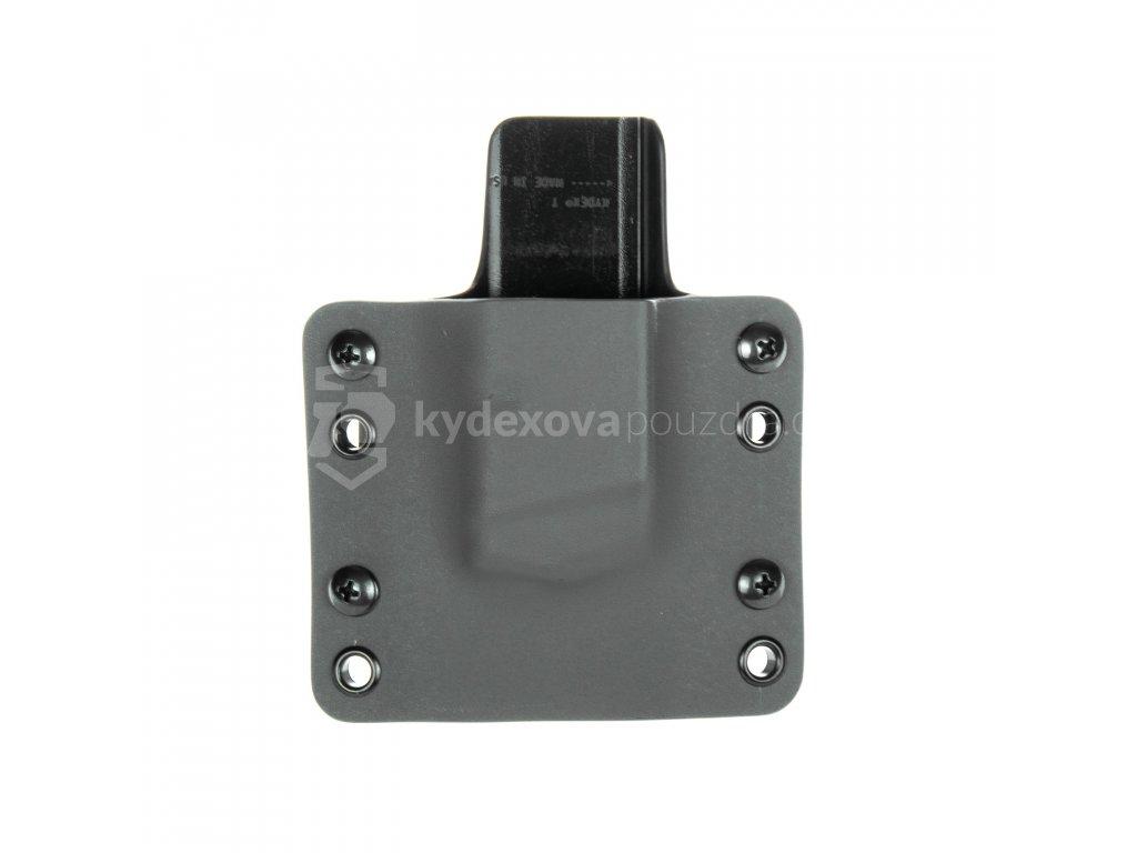OWB - Glock 17/19/19X/45 - vnější kydexové pouzdro na 1 zásobník - plný sweatguard - tmavě šedá/černá