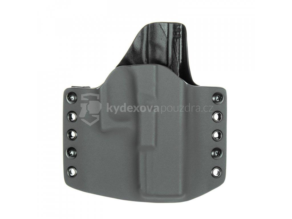 OWB - Glock 19/23/32 - Glock 19X/45 - vnější kydexové pouzdro - poloviční sweatguard - šedá/černá