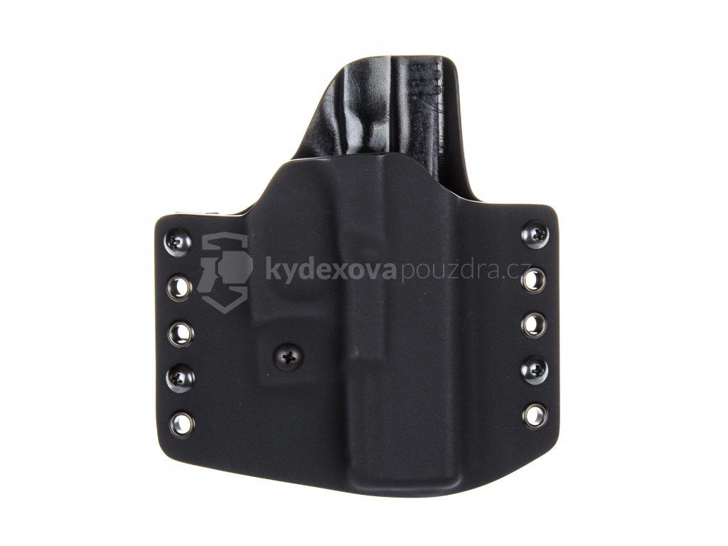 OWB - Glock 19/23/32 - Glock 19X/45 - vnější kydexové pouzdro - poloviční sweatguard - ns - černá/černá