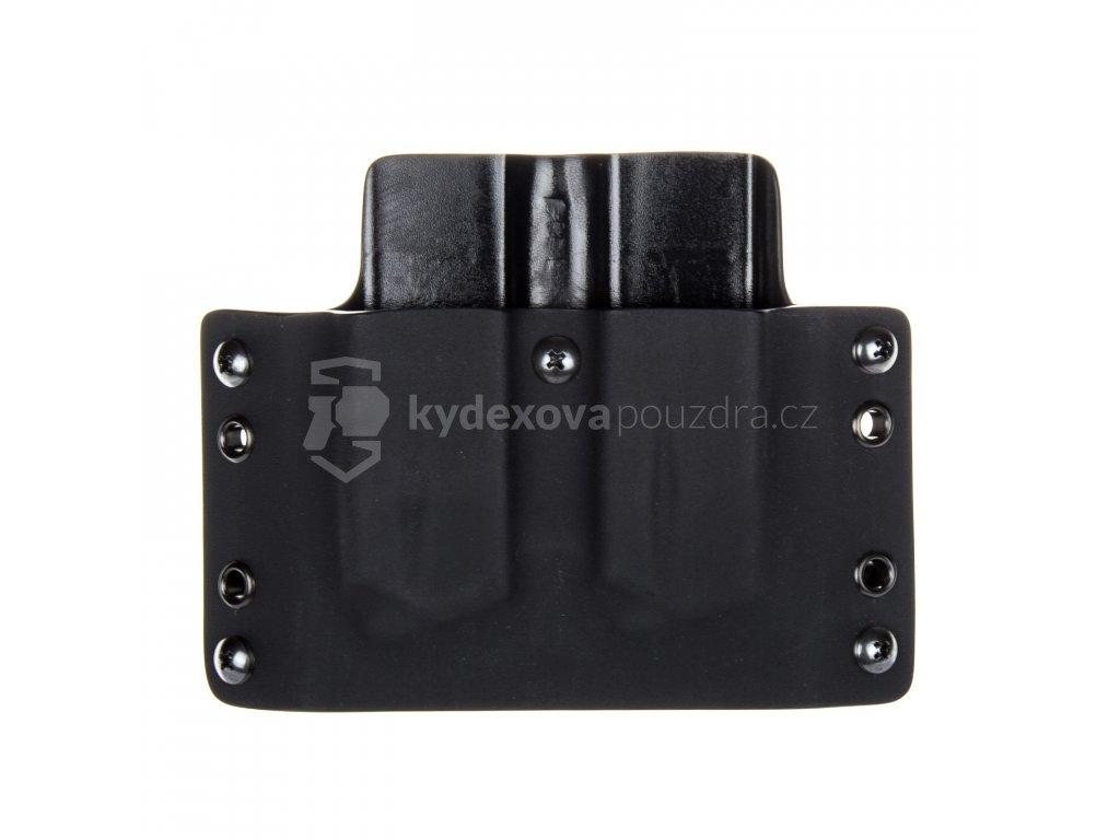 OWB - CZ 75 - vnější kydexové pouzdro na 2 zásobníky - plný sweatguard - černá/černá