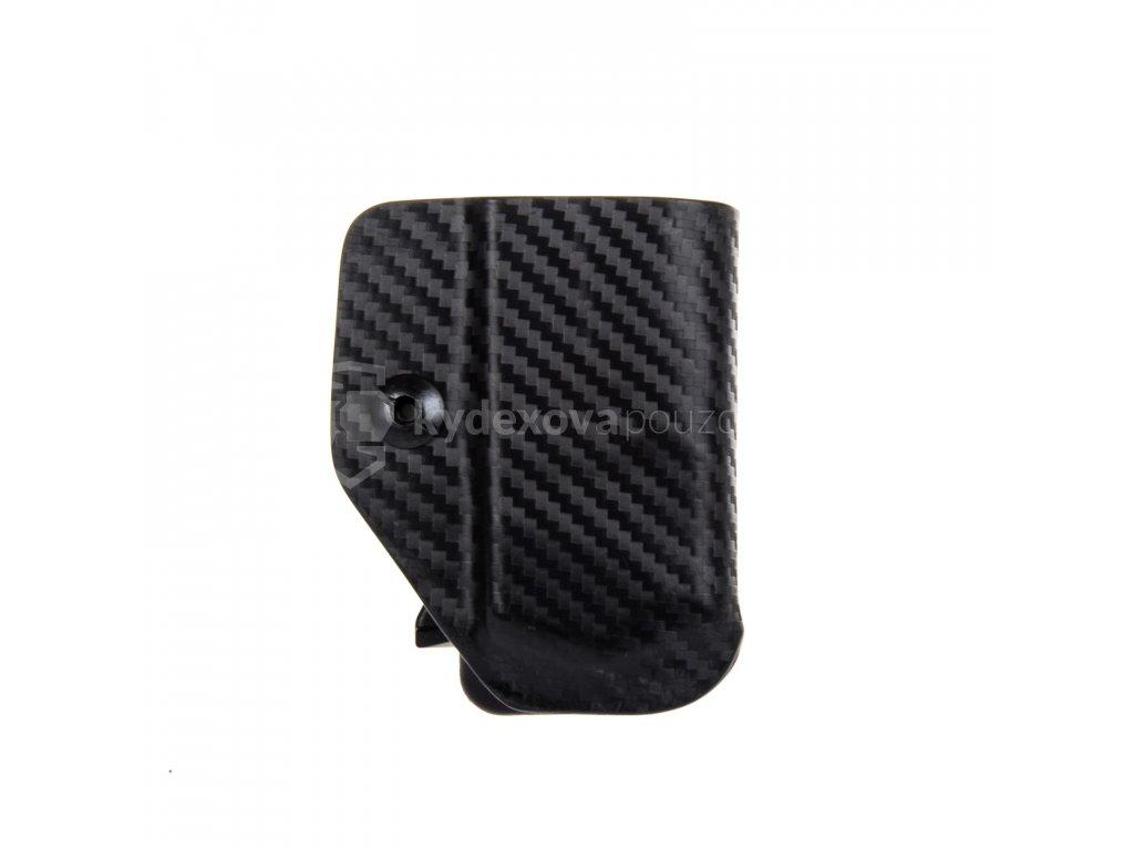 IWB - Glock 17/19/19X/45 - vnitřní kydexové pouzdro na 1 zásobník - bez sweatguardu - carbon